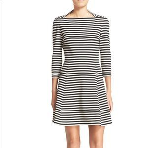 KATE SPADE Stripe Fit & Flare Dress Large